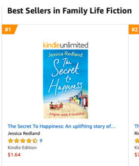 Amazon Australia No 1 in Family Life Fiction