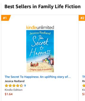 Amazon Australia No 1 in Family Life Fiction