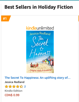 Amazon Canada No 1 in Holiday Fiction