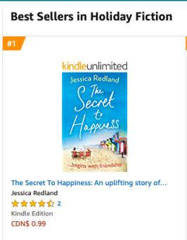 Amazon Canada No 1 in Holiday Fiction