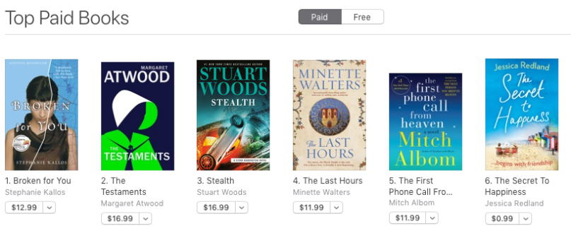 Apple Canada No 6 in Paid Chart